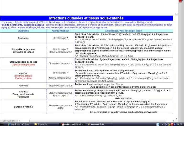 tableaux: antibiothérapie  par spécialité Ffffff10