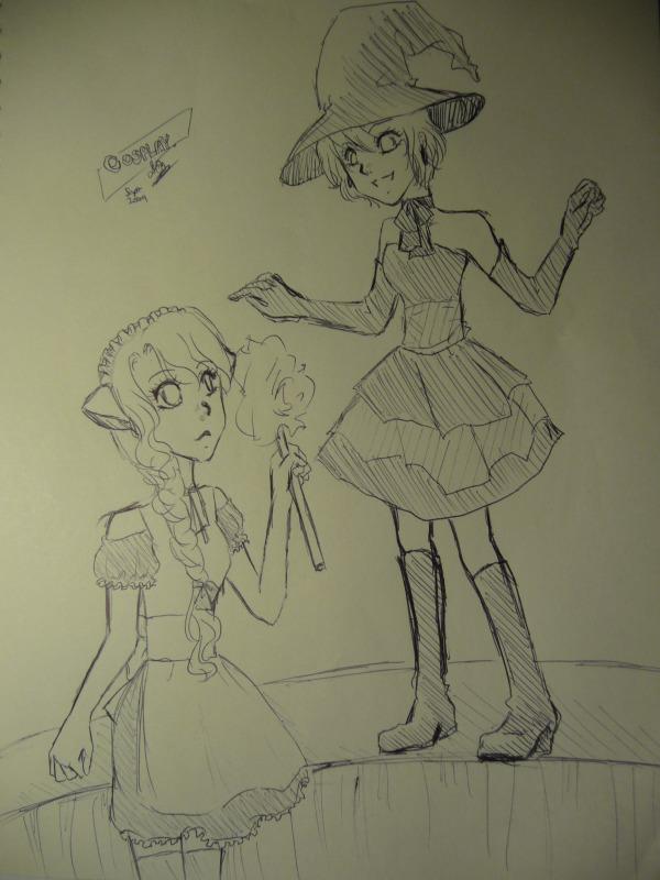 lol, random doodling in class Noctur21