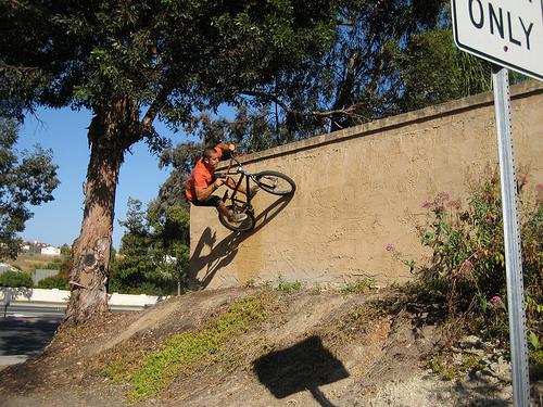 riding cement quarter in a ditch Wallri10