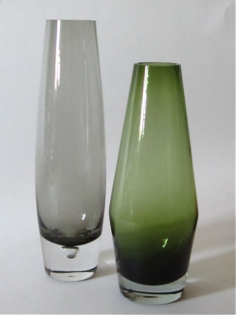 Tall, Thick Bottom Vase / Smokey And Green Img_0416