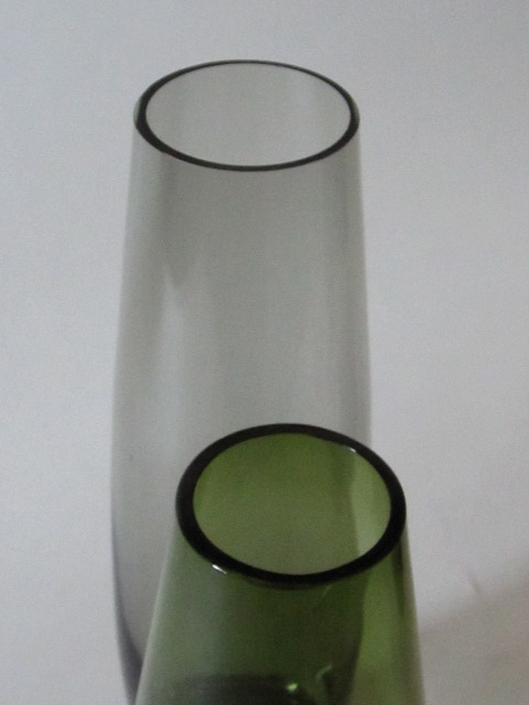 Tall, Thick Bottom Vase / Smokey And Green Img_0417