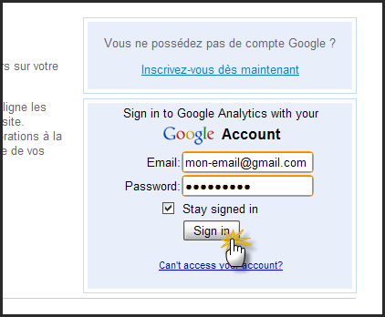 Intégration de Google Analytics 27-10-13