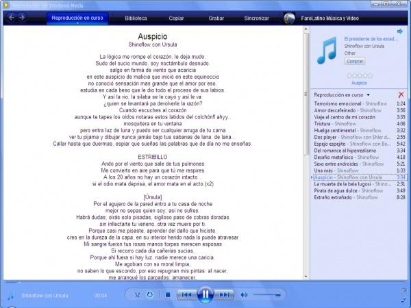 Lyrics Plugin Windosws Media Player [Lee las letras de tus canciones] Letras10