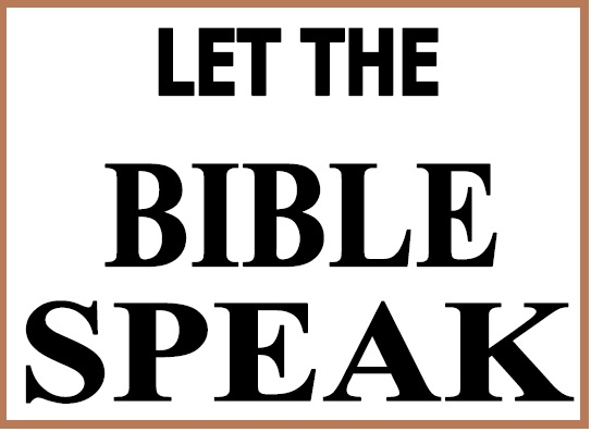 let the Bible speak Untit110