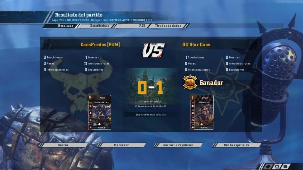 Copa Valkyrie Verano 2019 - Octavos de final - hasta el domingo 30 de junio - Página 2 20190610