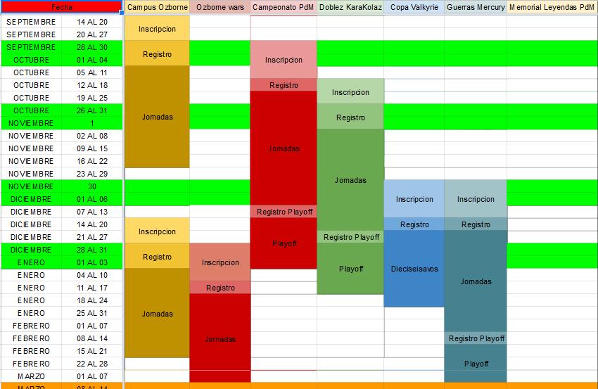 Calendario Competiciones Temporada 20-21 Calend12