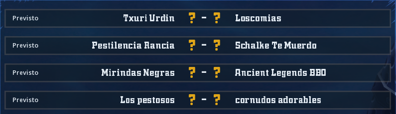 Campeonato Piel de Minotauro 12 - Grupo 1 - Jornada 7 hasta el 06 de Junio Campeo72