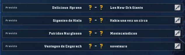 Campeonato Piel de Minotauro 9 - Grupo 2 / Jornada 2 - hasta el domingo 20 de octubre Jornad13