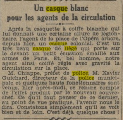 Casque en liège de la Police Parisienne - Page 3 Le_jou10