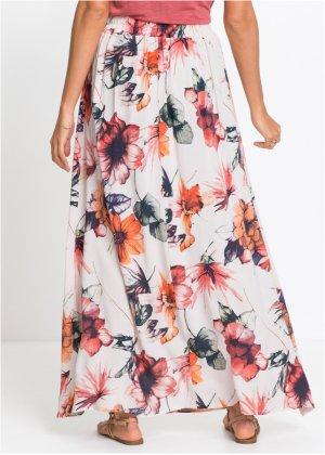 Où trouver une jupe mi-longue fleurie, légère, printanière ? 18117010