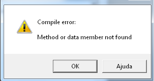 Erro ao tentar compilar programa Screen13