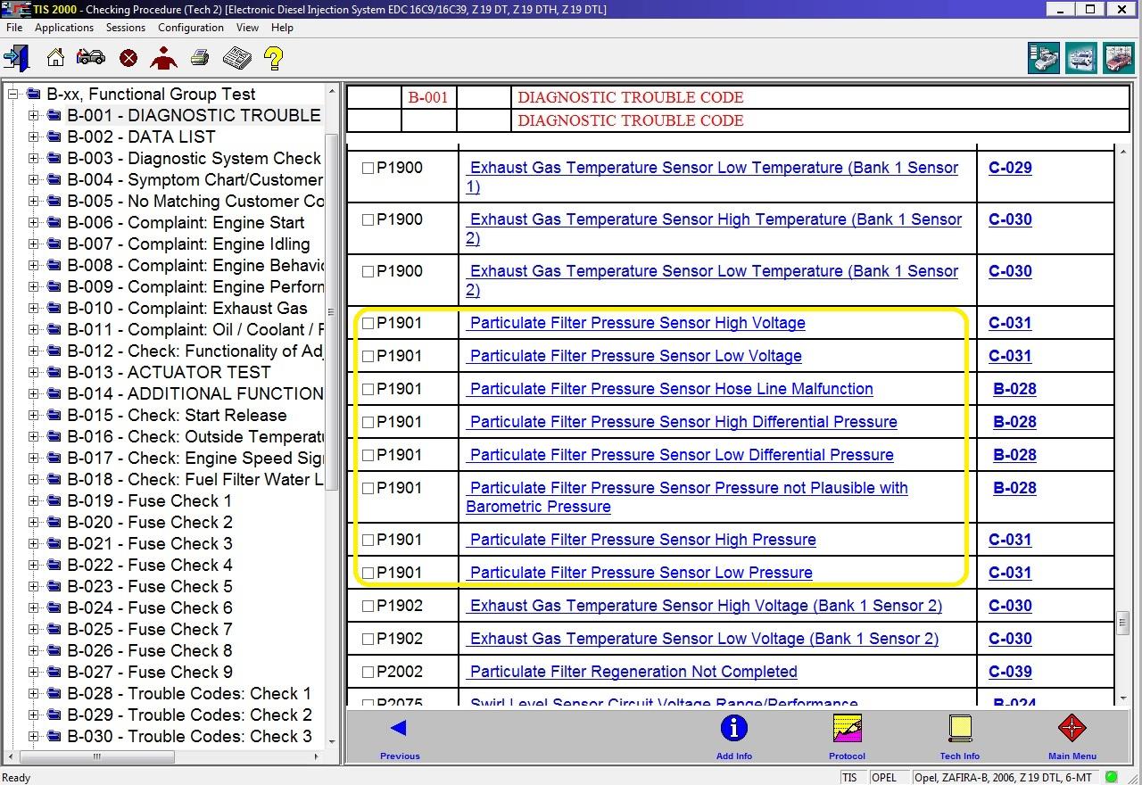 P1901-75 problème FAP Dtc_1911