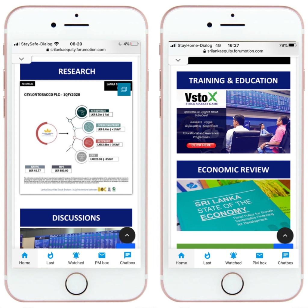 Sri Lanka Equity new Mobile Interface 849a4a10