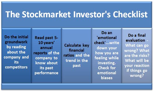 The Bargain Hunter's Checklist Invest11