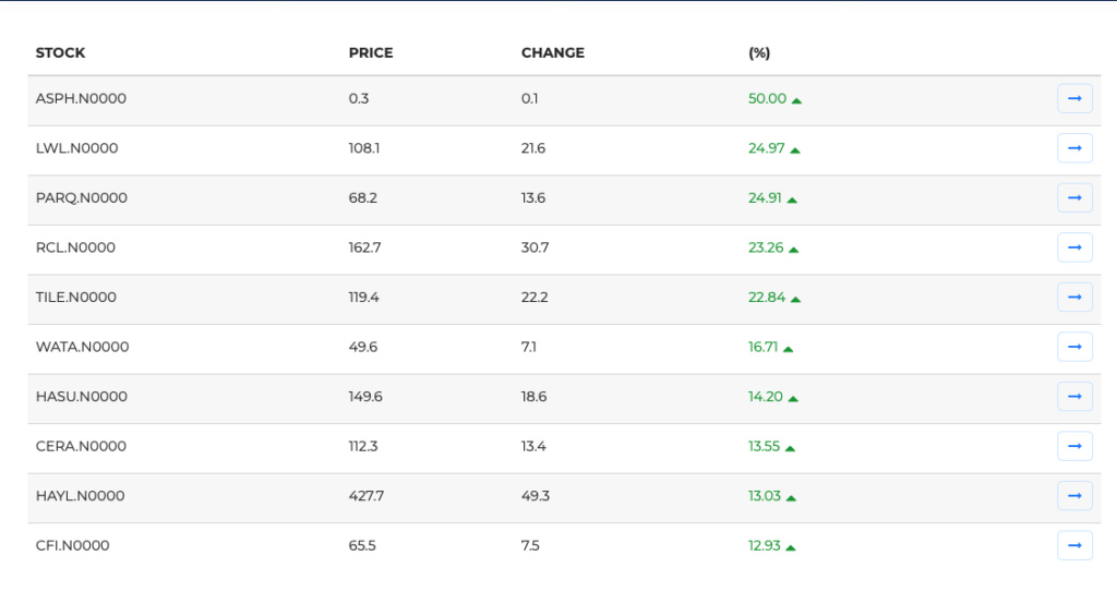 top gainers - TOP GAINERS Scree115