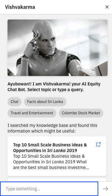 VISHVAKARMA ChatBot is active in the Forum Screen21