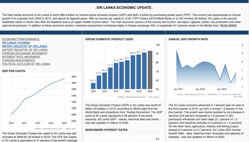 Sri Lanka : Economic Outlook 2020/21 Screen85
