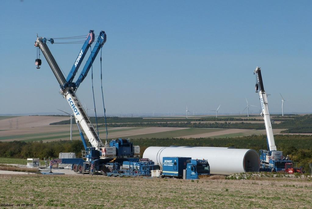 Parc éolien des Monts en construction (St Benoit sur Seine) P1440186