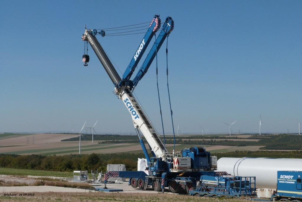 Parc éolien des Monts en construction (St Benoit sur Seine) P1440187