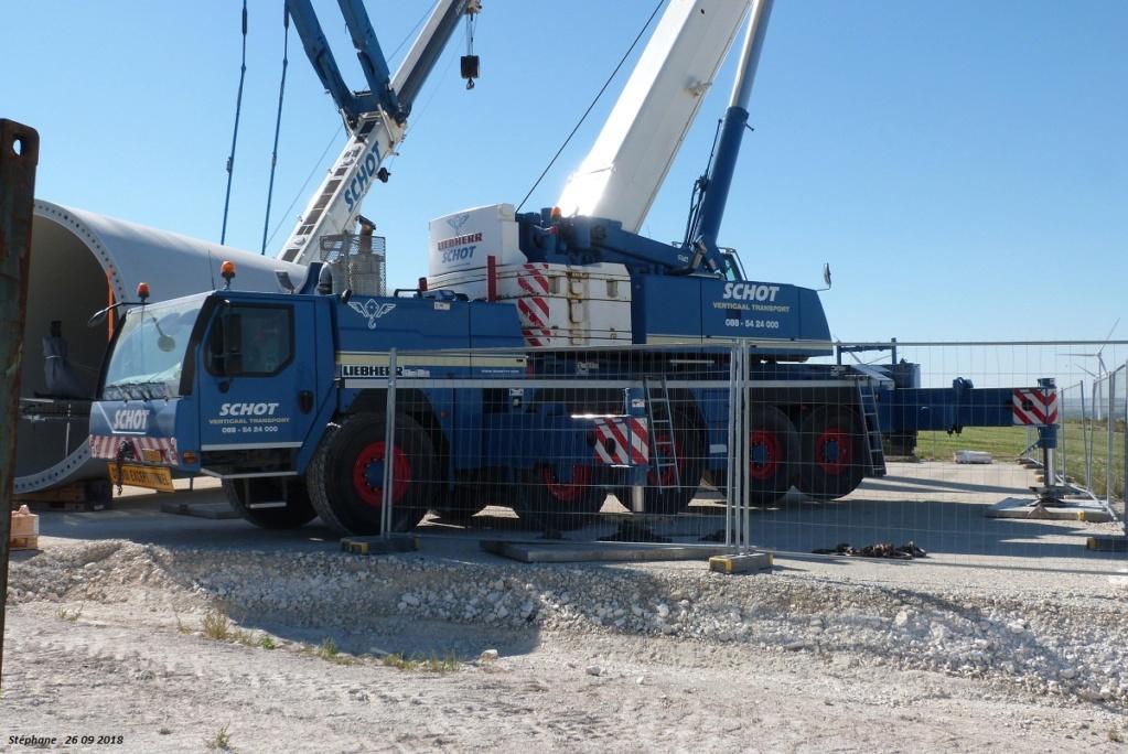 Parc éolien des Monts en construction (St Benoit sur Seine) P1440191