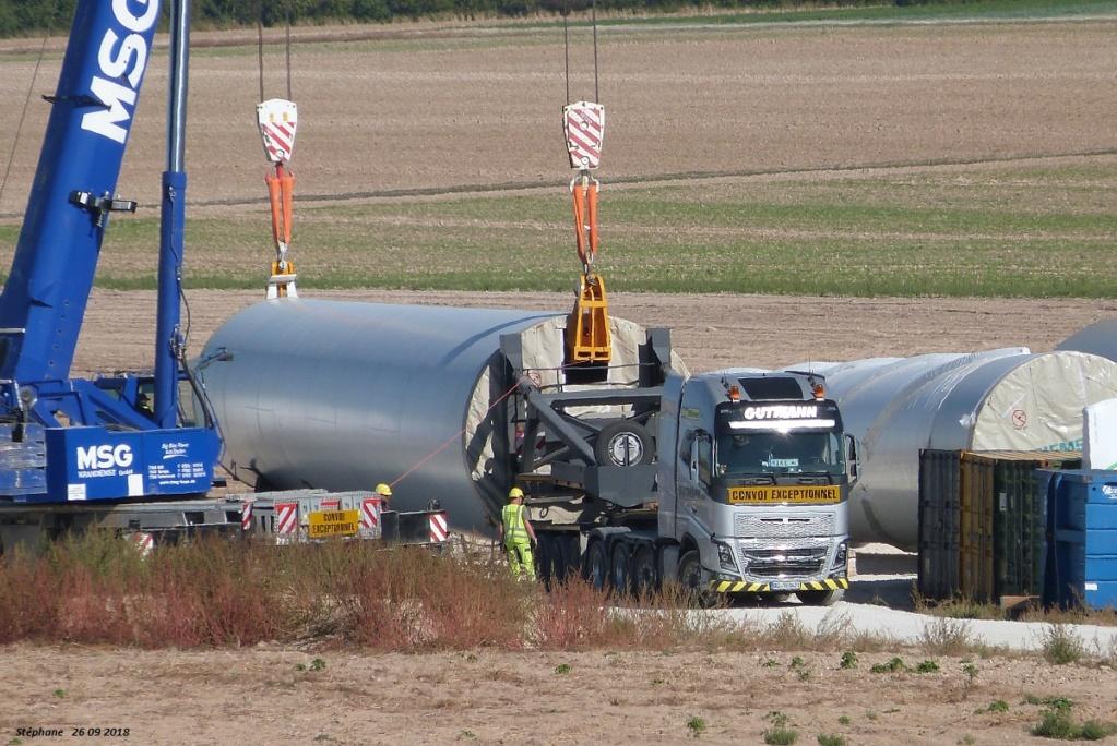 Parc éolien des Monts en construction (St Benoit sur Seine) P1440214