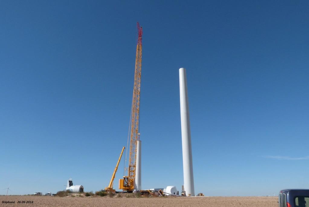 Parc éolien des Monts en construction (St Benoit sur Seine) P1440216