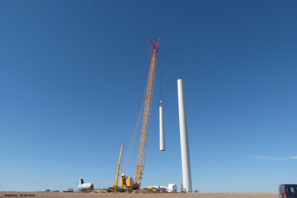 Parc éolien des Monts en construction (St Benoit sur Seine) P1440218