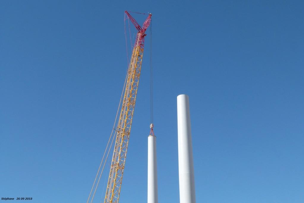 Parc éolien des Monts en construction (St Benoit sur Seine) P1440219
