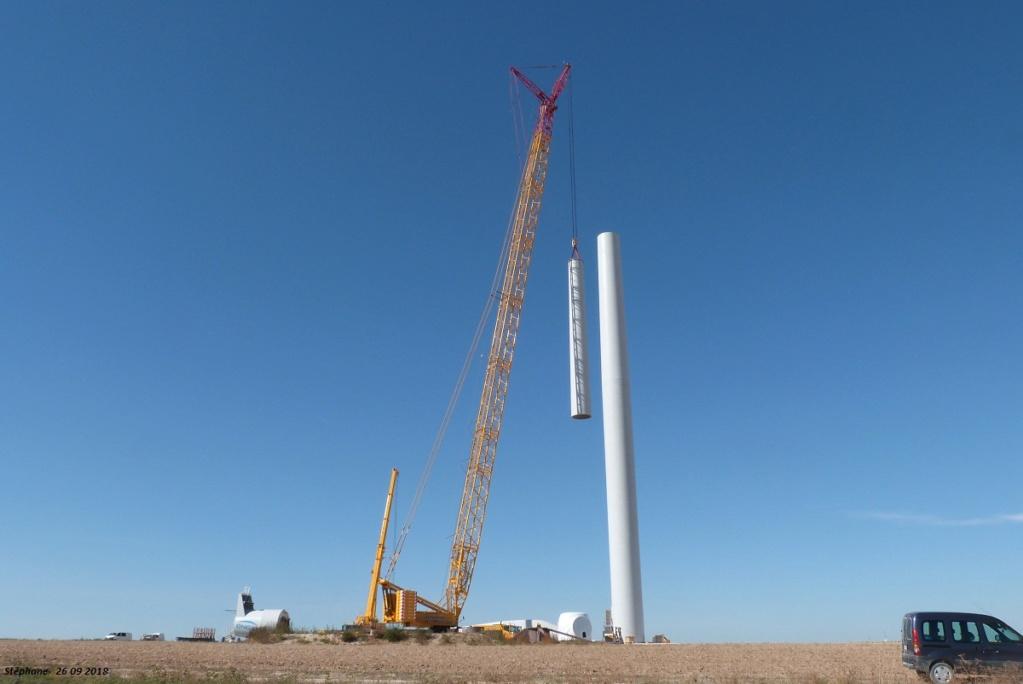 Parc éolien des Monts en construction (St Benoit sur Seine) P1440220