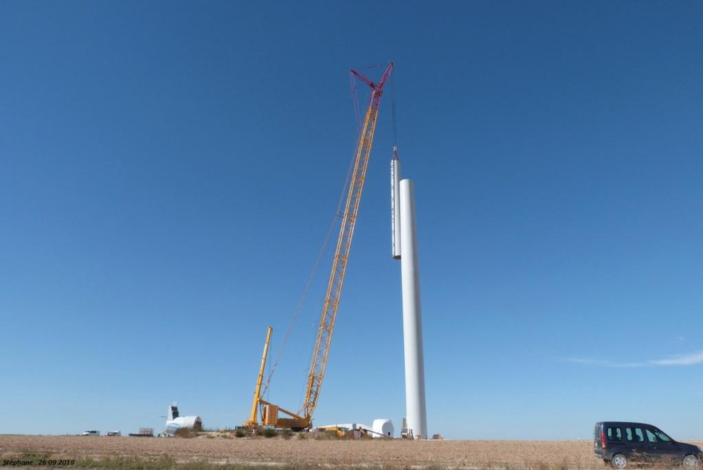 Parc éolien des Monts en construction (St Benoit sur Seine) P1440223