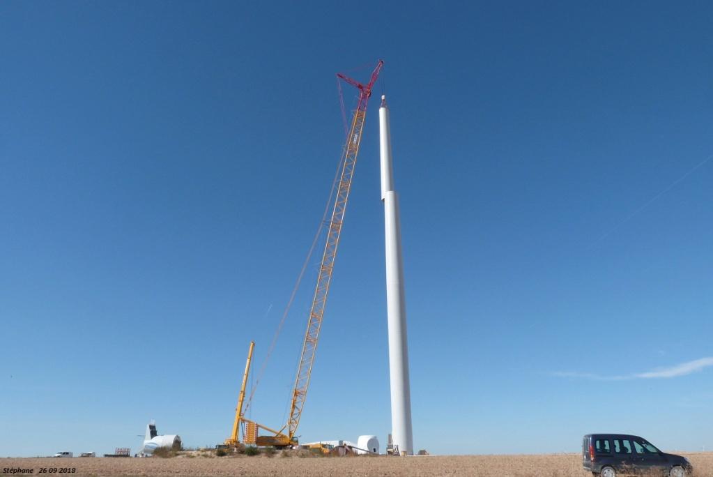Parc éolien des Monts en construction (St Benoit sur Seine) P1440225
