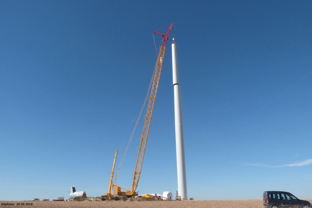 Parc éolien des Monts en construction (St Benoit sur Seine) P1440226