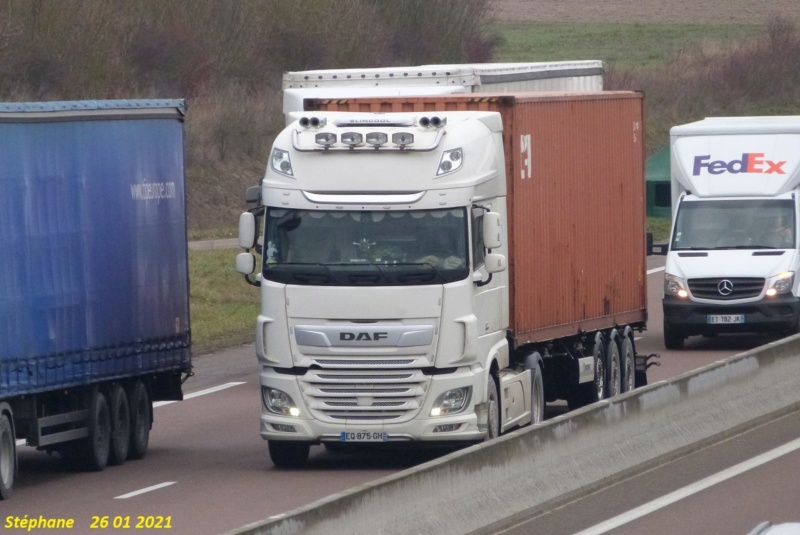 Daf XF blanc avec semi porte container P1560023