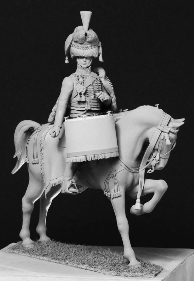Timbalier des chasseurs à cheval de la Garde Impériale (tenue à la hussarde, 1810) 10c51a10