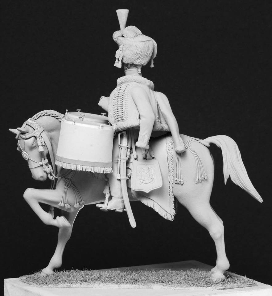 Timbalier des chasseurs à cheval de la Garde Impériale (tenue à la hussarde, 1810) F2e23810