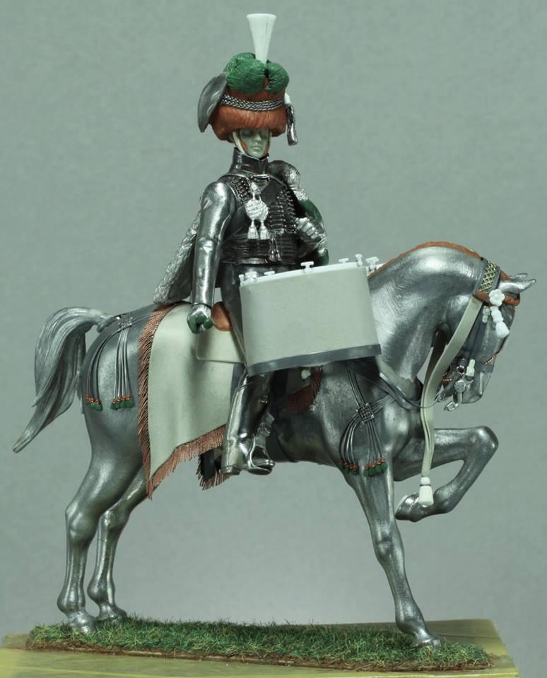 Timbalier des chasseurs à cheval de la Garde Impériale (tenue à la hussarde, 1810) F94ee810