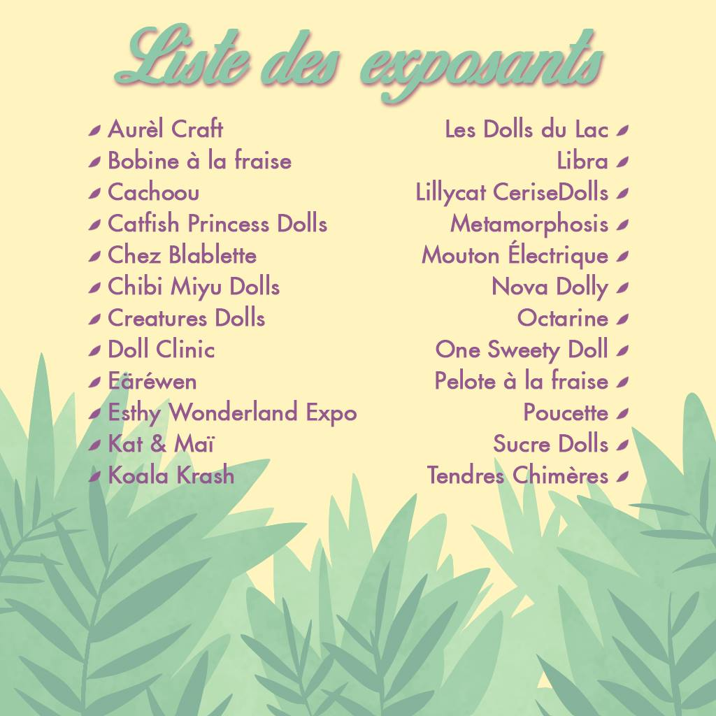 Dolls du lac - 2ème édition - 11 & 12 mai 2019 - Page 2 59285710