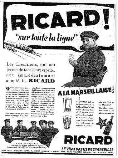 Bière, vin et alcool publicités - Beer Wine and alcool ad Ricard10