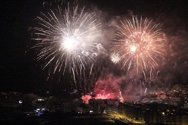 Fireworks display in Alcalá bay tomorrow night. 50946-10