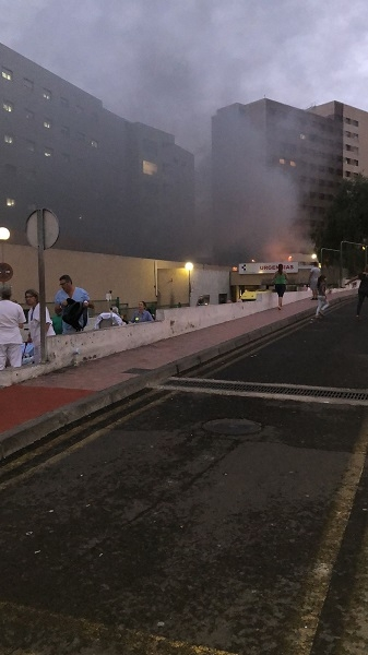 Fire at Candelaria Hospital 50948-10