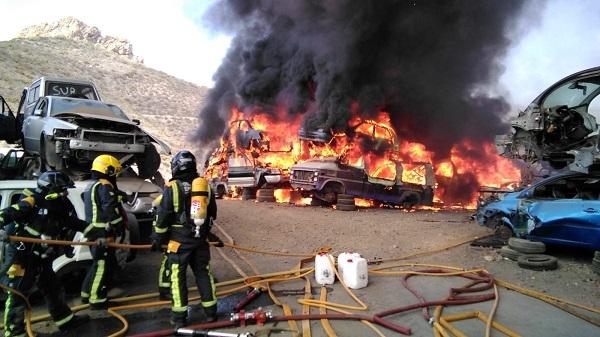 Scrap yard blaze in Arona.  50991-10