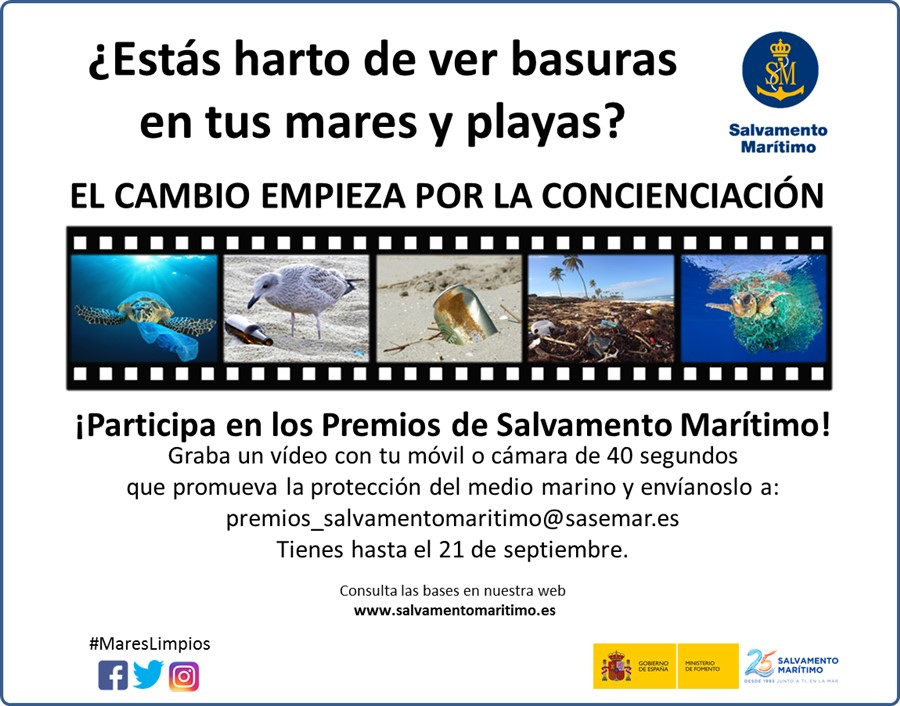Coastguard calls for video shorts for a public competition promoting clean seas Maresl10