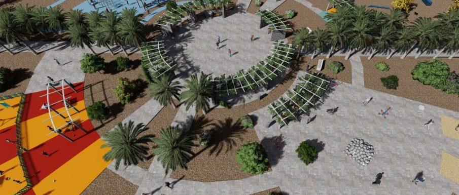 Arona announces new urban park for Las Rosas. Parque10