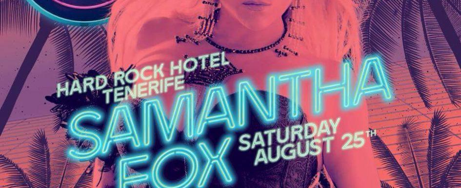 Samantha Fox tomorrow night in Playa Paraiso. Sam-fo10