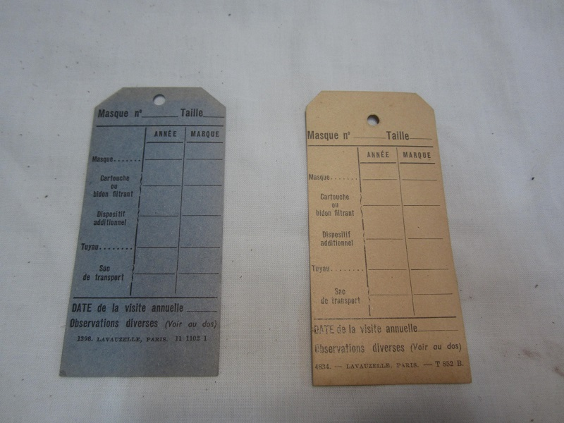 Etiquettes de contrôle des masques à gaz mle 1931 - PHILPENS - FEV 2 Img_7318