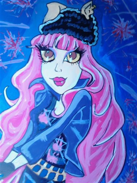 Painting I did of Howleen from Monster High Nduwld10