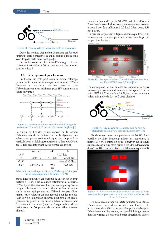 eclairage à DEL pour velo ( LED light for bike) Light emitting diode Banc_d52