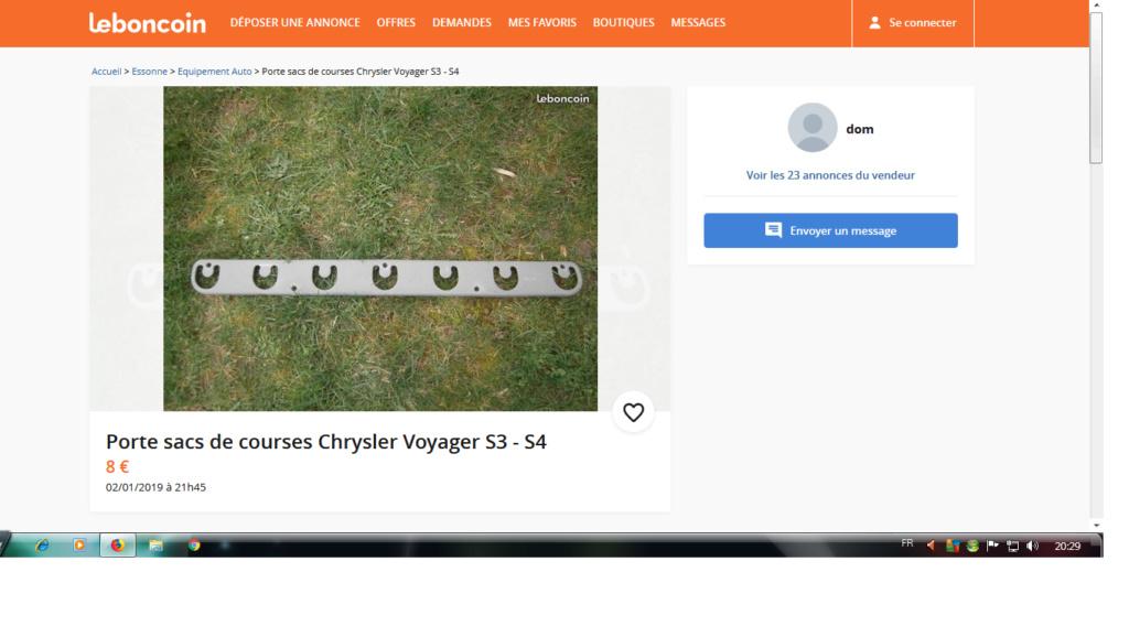 Porte sacs de courses Chrysler Voyager S3 - S4 Sac_de10