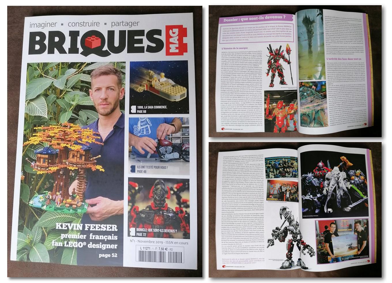 Sortie de BRIQUES MAG n°1 avec un dossier de 4 pages sur BIONICLE Brique10