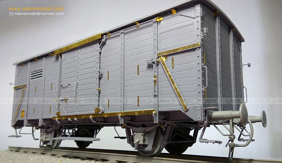 GERMAN RAILWAY COVERED G10 WAGON - Sabre Model - 1/35 004-9510